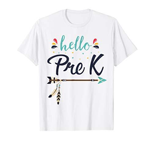 Hello Pre K Lehrer zurück zum ersten Schultag T-Shirt (Schule-geschenke Lehrer Zu Zurück Für)