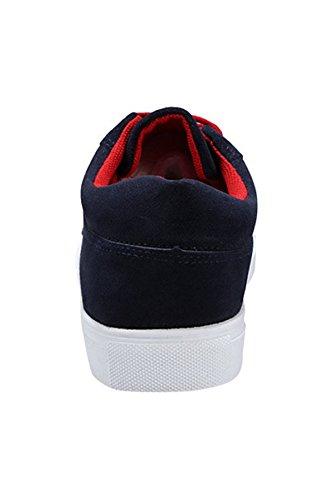 Oasap Homme Sneakers Classique A Lacet Bleu