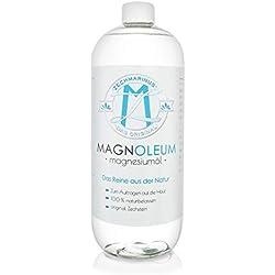 Magnoleum Magnesiumöl 1000 ml PET-Flasche – Flüssiges Zechstein Magnesiumchlorid rein & natürlich – Magnesium Oil – 100% vegan