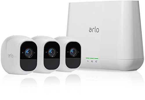 Arlo Pro 2 VMS4330P Wireless Home Security Camera System with Siren, Rechargeable, Night Vision, Indoor/Outdoor, 1080p, 2-Way Audio, Wall Mount, Cloud Storage Included, 3 Camera Kit
