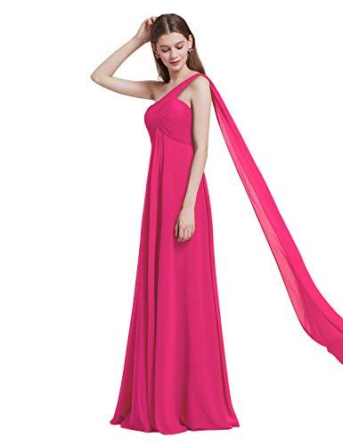 a18aba0bd9d Ever-Pretty Vestidos Largos de Fiesta Noche de Gasa de un Hombro de Las  Mujeres