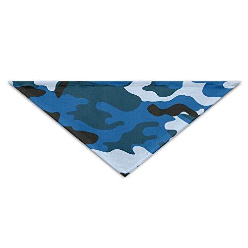 Mens Navy Blue Dog (Wfispiy Navy Blue Camouflage Camo Pet Scarf Dog Bandana Pet Collars Triangle Neckerchief Puppy Bibs Scarfs)