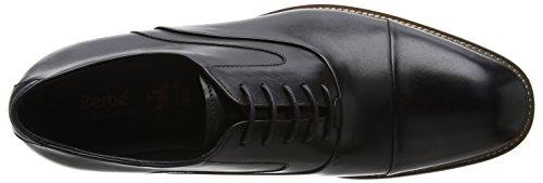 Bertie Herren Radius Oxfords Schwarz (Black Leather)