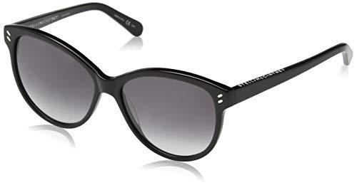 Stella mccartney sc0002s 001, occhiali da sole unisex-adulto, nero (001-black/grey), 57