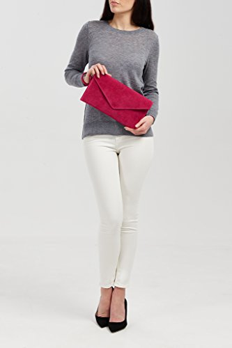 Big Handbag Shop, Borsetta da polso donna One Red