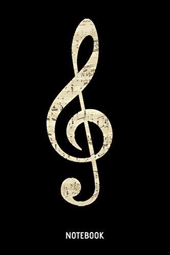 Notebook: A5 (Handtaschenformat) Liniertes Klassik Notizheft oder Klavier Journal - Musiker Tagebuch oder Notenheft als Notizbuch für Männer und Frauen