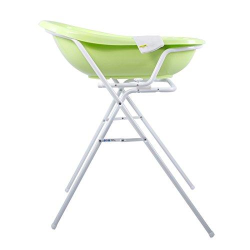Bañera para Bebé verde 84 cm + Soporte Bañera + Manopla de baño
