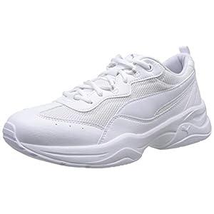 PUMA Women's Cilia Sneakers, White-Gray Violet Silver, 5 UK