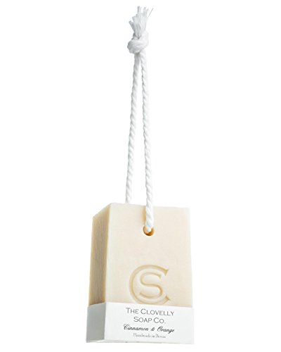 Clovelly Soap Co Natural Handmade Cinnamon & Orange Soap on a Rope Bar For All Skin Types 250g