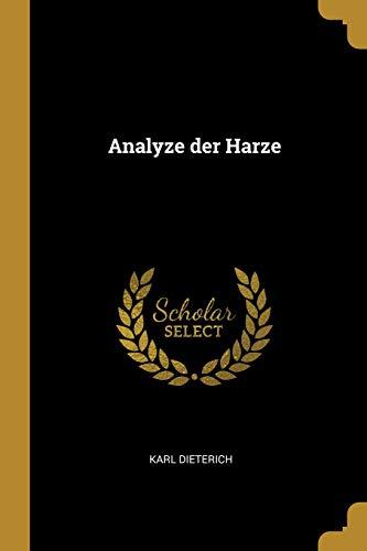 Analyze der Harze
