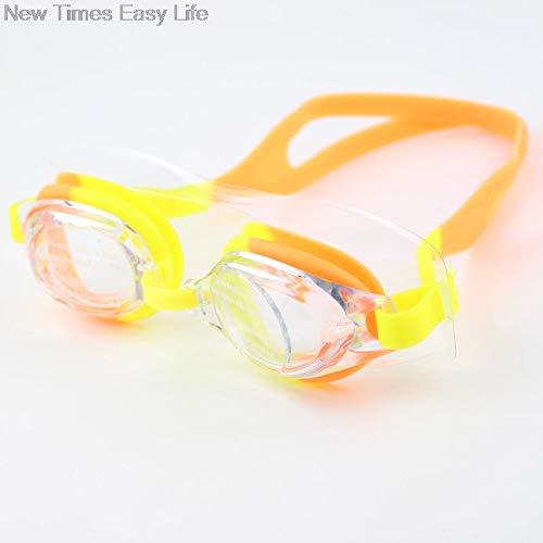 - Moocevill - Bunte Adjustable Kinder Kinder wasserdichte Silikon-Anti-Fog UVschild Schwimmbrillen Goggles Brillen Brillen mit Box [orange]