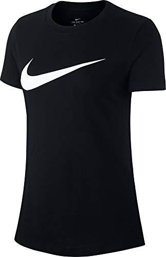 Nike Damen Sportswear Swoosh T-Shirt, Black/White, S