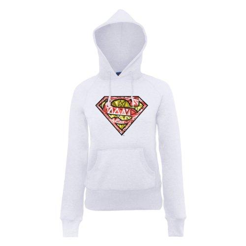 DC Comic Dc Comics Official Superman Cells Logo Womens Hooded Sweatshirt - Sweat-shirt àcapuche - Femme Blanc - Blanc