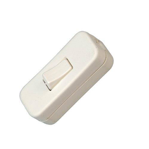 Kopp 191317086 Schnurzwischenschalter, 1-polig, 250 V, 2 A, weiß