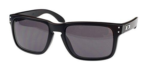 Oakley Holbrook Sonnenbrille, OO9102-01, matt schwarz, grau Objektiv, Standard Passform