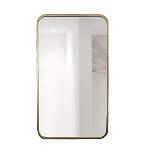 Espejo Pared for baño Marco Metal Rectangular Dorado