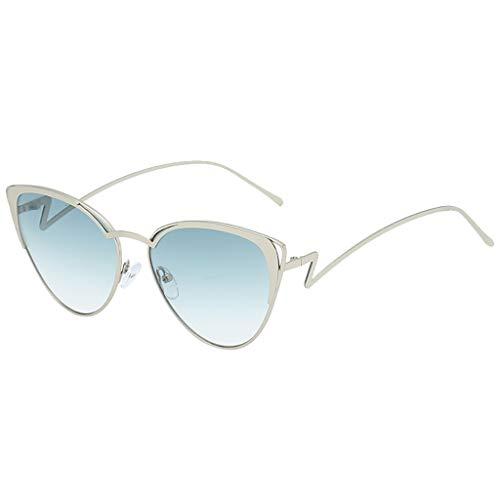 Moderne Sonnenbrillen Charmante Damen Mode Ovale Form Sonnenbrille Brille Vintage Retro Style Metall rahmen(C,free)