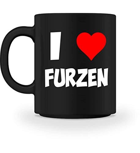 PlimPlom I Love Furzen Kaffeetasse Spaßgeschenk Tasse Für Kaffee Tee Kakao - Geschenk dee - Tasse