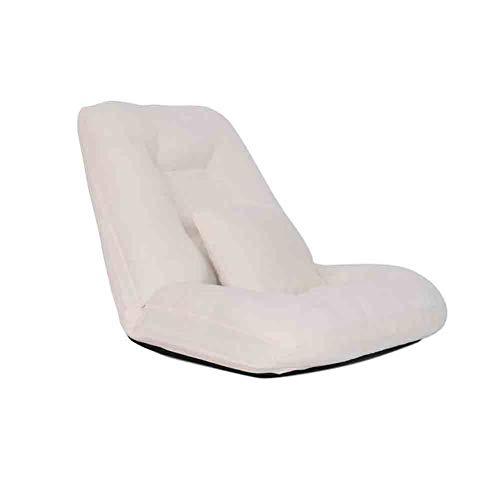 Sunny Lounge Schlafsofa Folding Einzelrückenkissen, Einstellbare 14-Position Bodenliege Schläfer Futon Matratze Sitz Stuhl (Farbe : Nicht-gerade Weiss)