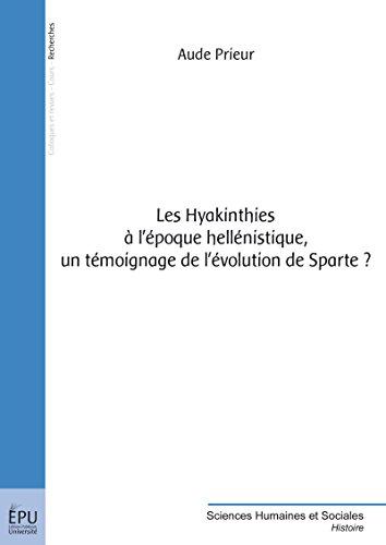 Read Les Hyakinthies à l'époque hellénistique, un témoignage de l'évolution de Sparte ? pdf, epub