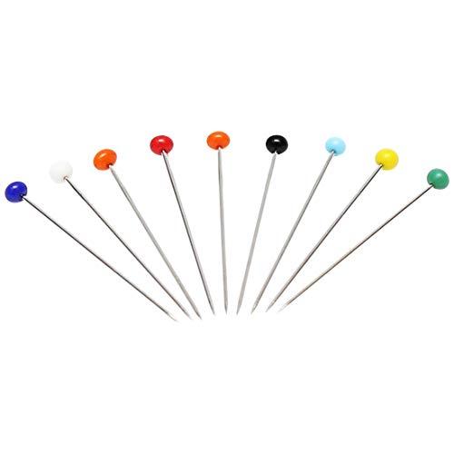 las Pearlized Kopf Pins Multicolor Weiß Schneiderei Nähen Pin für DIY Nähen Handwerk nähzubehör ()