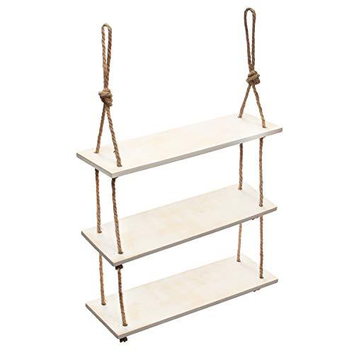 Tutoy 3 Tier-Holzwand Mount Shelf Stand Storget-Regale Display Rack Shelving Brack-Badung Badezimmer - #1