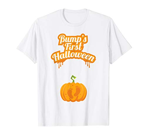 mpkin Footsteps Funny Halloween T Shirt ()