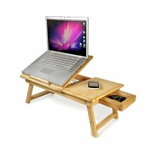 Speedwav Multipurpose Laptop Table Bed Tray Foldable, Wooden and Ventilated For Study / Reading / Eating / Craft-work