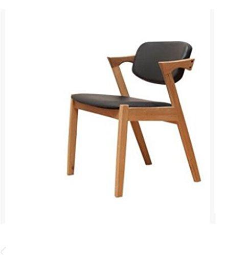 Tabouret en bois Chaise de salle à manger en bois massif nordique Z-Chair soft pack dossier chaises, cafétéria loisirs café tables et chaises (Couleur : #2)