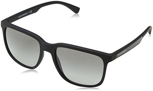 Emporio Armani Herren 0ea4104 Sonnenbrille, Schwarz (Black Rubber), 57