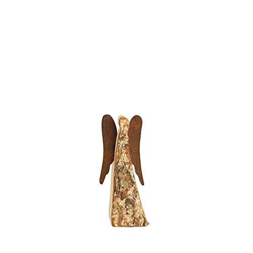Rindenengel 9 cm -Achaiah- mit rostigen Flügeln