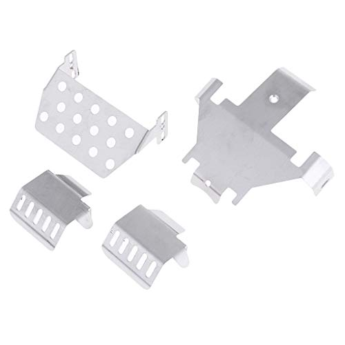MagiDeal Durable Silver Alloy Chassis Plate for 1:10 RC Crawler Traxxas Trx4 T4