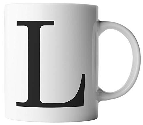 ghostee Tasse - Buchstabe L - Alphabet als Kaffeetasse ABC Buchstaben