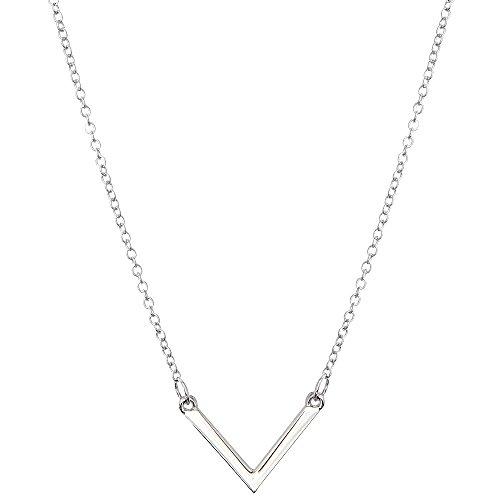 Halskette TRIANGLE - Sterlingsilber/Vergoldet - prettique (Silber)
