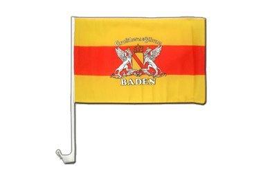 Deutschland Baden mit Wappen Flagge, badische Autoflagge - 30 x 40 cm, MaxFlags®