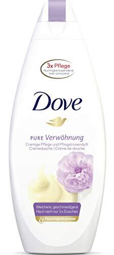 Dove Pflegedusche Pure Verwöhnung Cremige Pflege und Pfingstrosenduft, Duschgel, 6er Pack(6 x 250 ml)