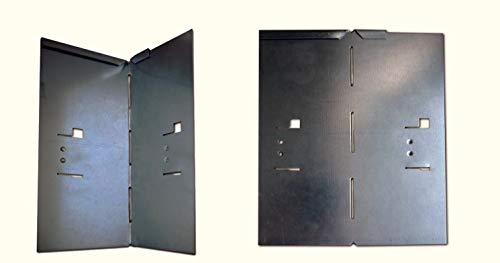 HN Kernstützen Metallwaren Ecke für Rasenkante Metall 8x8x18,5cm 4er Set Beeteinfassung Wegbegrenzung