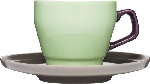 Sagaform POP Kaffeetasse mit Untertasse, Steingut, 227 ml grün - spring green Sagaform Green
