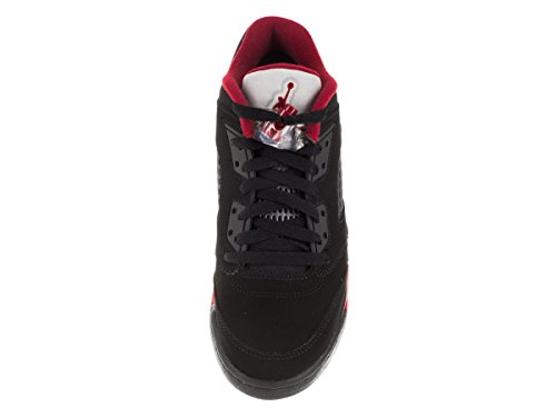 Air Jordan 5 Retro Low Junior Blanc 814338-135 Black/Gym Red/Black/Mtlc Hmtt