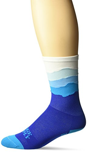 DeFeet Aireator Socken Hi Top 15,2 cm der Skyline Dawn Edition blau XL Blue/Royal Blue (Socken Defeet Blau)