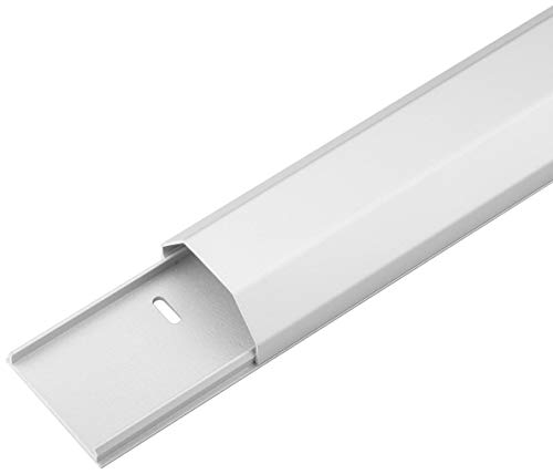 Goobay 90728 Halbrunder Aluminium-Kabelkanal 50 mm, Länge 1, 1 m