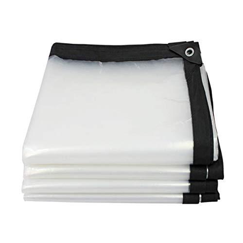 YGUOZ Telone Impermeabile per Esterno Trasparente, copertura in plastica per teli, telo reversibile e resistente ai raggi UV,2 * 3m