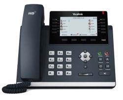 Yealink SIP-T46G SIP-Telefon mit Farbdisplay [16 SIP-Konten, 10 programmierbare Tasten]