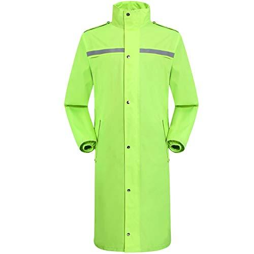 Diyun Outdoor Lange Einteilige wasserdichte Regenjacke Männer und Frauen Windbreaker Safety Patrol Station Guard Regenjacke (Color : Green, Size : L) Viewing Station
