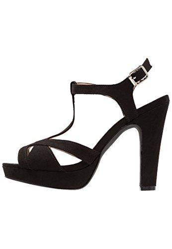 Anna field scarpe con tacco da donna da sera in similpelle di alta qualità, nero, 41