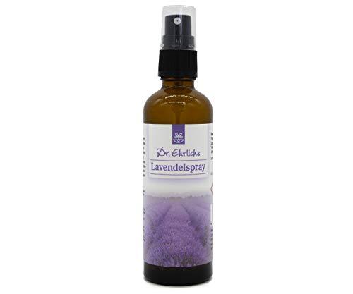 Dr. Ehrlichs Lavendel-Spray 75 ml - Raumduft mit natürlichen ätherischen Ölen des echten Lavendels Raumspray & Kissenspray zur Entspannung und Aromatherapie - Lavendel-aromatherapie-spray