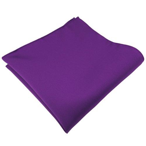 TigerTie - Satén pañuelo - morado violeta monocromo - paño poliéster Pochette paño Cavalier