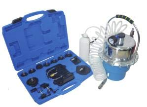 Professional Power Brake Bleeder Kit Qiilu Clutch Bleeder Valve System Set and Air Pressure Pneumatic Brake Bleeding Tool