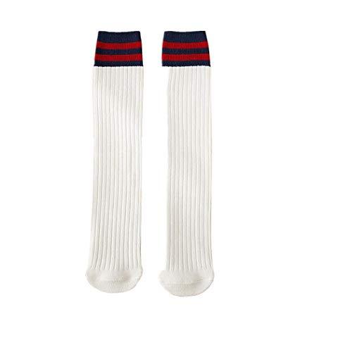 XuxMim Frauen warme vertikale Streifen Socken in den Rohrsocken plus Samtverdickung