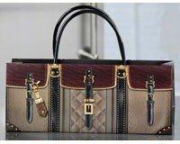Leather Handbag Design Wine Bottle Gift Bag